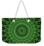 Ornamented Mandala In Green Tones Weekender Tote Bag
