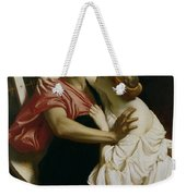 Orpheus And Euridyce Weekender Tote Bag by Frederic Leighton