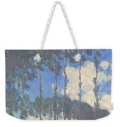 Oscar Monet   Poplars On The Epte Weekender Tote Bag