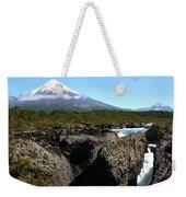 Osorno Volcano From Petrohue Falls Weekender Tote Bag