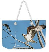 Osprey And Black Billed Magpie Weekender Tote Bag