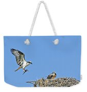 Osprey Brings Fish To Nest Weekender Tote Bag