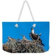 Osprey With Chicks Weekender Tote Bag