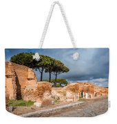 Ostia Antica - Strolling The Decuman Weekender Tote Bag