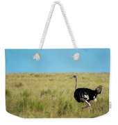Ostrich On The Run Weekender Tote Bag