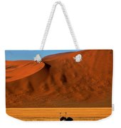 Ostriches At Sossusvlei Weekender Tote Bag