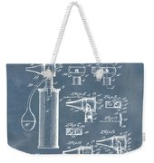 Otoscope Patent 1927 Blue Grunge Weekender Tote Bag