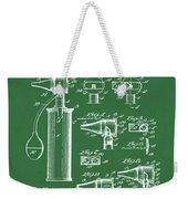 Otoscope Patent 1927 Green Weekender Tote Bag