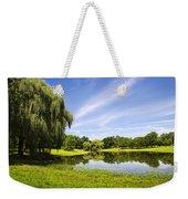 Otsiningo Park Reflection Landscape Weekender Tote Bag by Christina Rollo