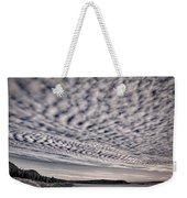 Otter Cliffs Dawn - Black And White Weekender Tote Bag