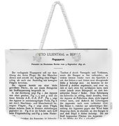 Otto Lilienthal: Patent Weekender Tote Bag