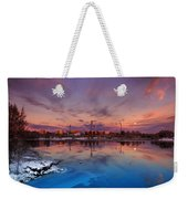 Oulu Moonrise Panorama Weekender Tote Bag