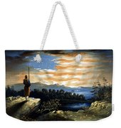 Our Heaven Born Banner Weekender Tote Bag