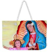 Our Lady Of Guadalupe And Child Weekender Tote Bag