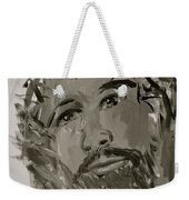 Our Lord Cries In Black And White Weekender Tote Bag