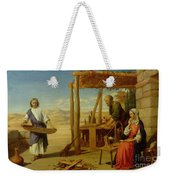 Our Saviour Subject To His Parents At Nazareth Weekender Tote Bag by John Rogers Herbert