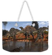 Ouranosaurus Drink At A Watering Hole Weekender Tote Bag