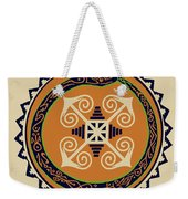 Ouroboros With Devine Fire Wheel Weekender Tote Bag