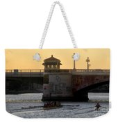 Out For An Evening Scull Weekender Tote Bag