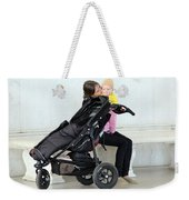 Out Of The Baby Stroller -- A Mother And Daughter Weekender Tote Bag