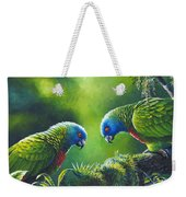 Out On A Limb - St. Lucia Parrots Weekender Tote Bag