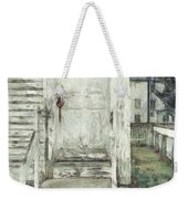 Out The Back Door Pencil Weekender Tote Bag