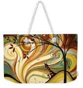 Out West Original Madart Painting Weekender Tote Bag