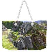 Outcrop In Snowdonia Weekender Tote Bag