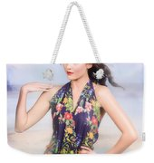 Outdoor Fashion Portrait. Spring Twilight Beauty Weekender Tote Bag