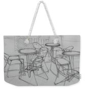 Outdoor Seating - Pirates Alley - French Quarter Weekender Tote Bag