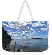 Outhaul On An Island In Casco Bay Maine  Weekender Tote Bag
