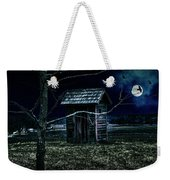Outhouse In The Moonlight With Flying Crows Weekender Tote Bag