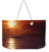 Outrigger Canoe At Sunset Weekender Tote Bag