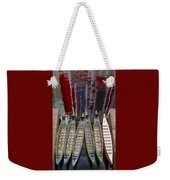 Outrigger Canoe Boats And Water Reflection Weekender Tote Bag