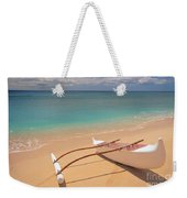 Outrigger On Beach Weekender Tote Bag