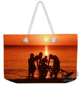 Outrigger Sunset Silhouet Weekender Tote Bag