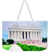 Outside The Lincoln Memorial Weekender Tote Bag