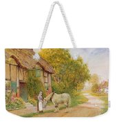 Outside The Village Inn Weekender Tote Bag