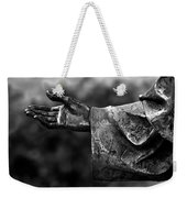 Outstreched Hand B-w Weekender Tote Bag