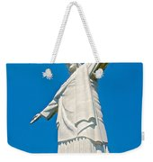 Outstretched Arms Of Christ The Redeemer Icon On Corcovado Mountain In Rio De Janeiro-brazil  Weekender Tote Bag