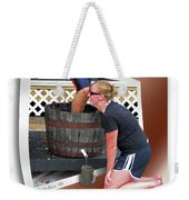 Over A Barrel Weekender Tote Bag