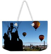 Over Auburn And Lewiston Hot Air Balloons Weekender Tote Bag