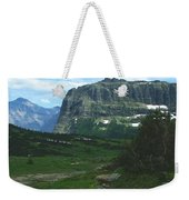 Over Logan's Pass Weekender Tote Bag