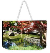 Over Springtime Pond Weekender Tote Bag