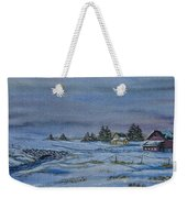 Over The Bridge And Through The Snow Weekender Tote Bag by Charlotte Blanchard