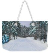Snow Tracks Weekender Tote Bag