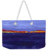 Over The Line Blue Weekender Tote Bag