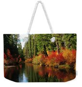 Over The Mountains And Thru The Trees Weekender Tote Bag