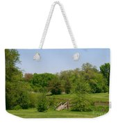 Over The River And Through The Woods In Summer Weekender Tote Bag