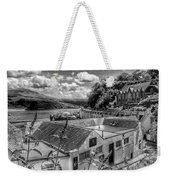 Over The Rooftops At Portree In Greyscale 2 Weekender Tote Bag